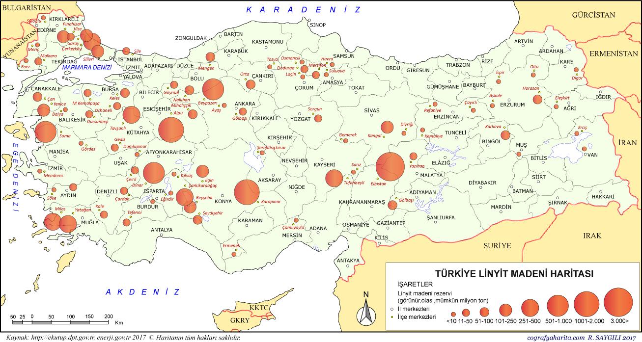 Türkiyenin maden rezervleri nelerdir