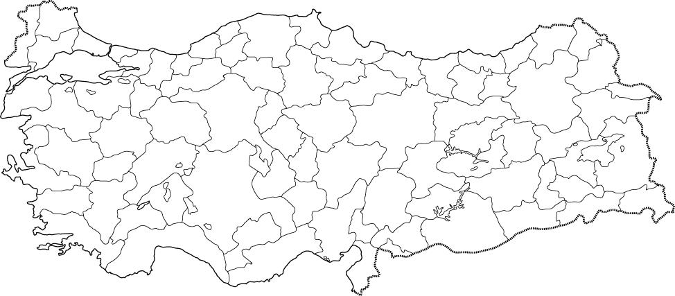 türkiye haritası boş ile ilgili görsel sonucu