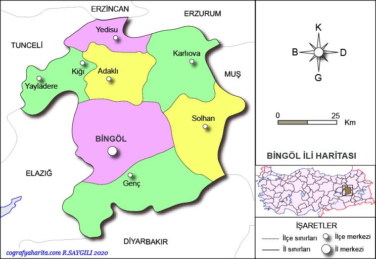 bingöl haritası ile ilgili görsel sonucu