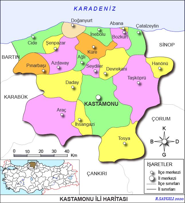 kastamonu haritası ile ilgili görsel sonucu