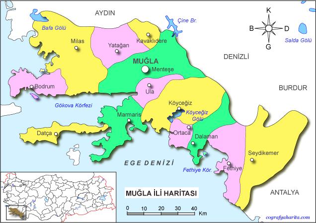 muğla haritası ile ilgili görsel sonucu