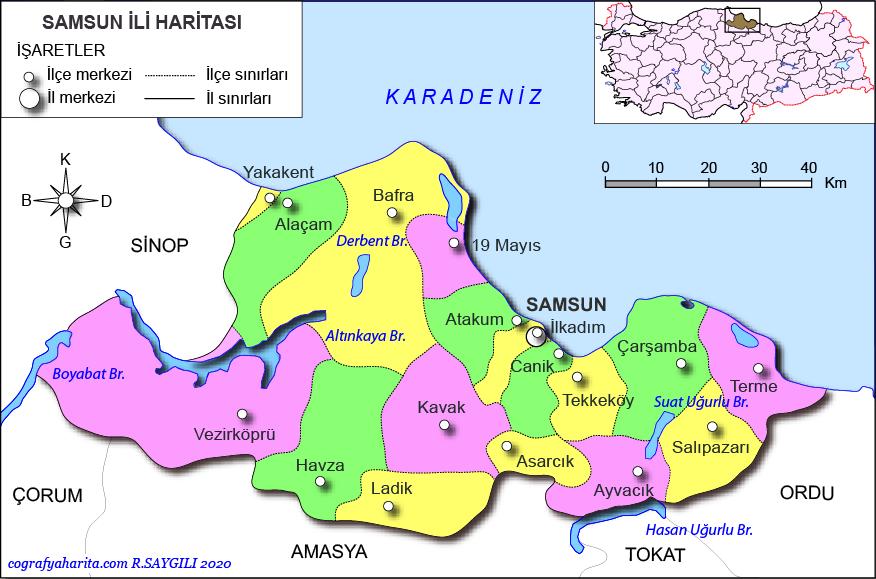 samsun haritası ile ilgili görsel sonucu
