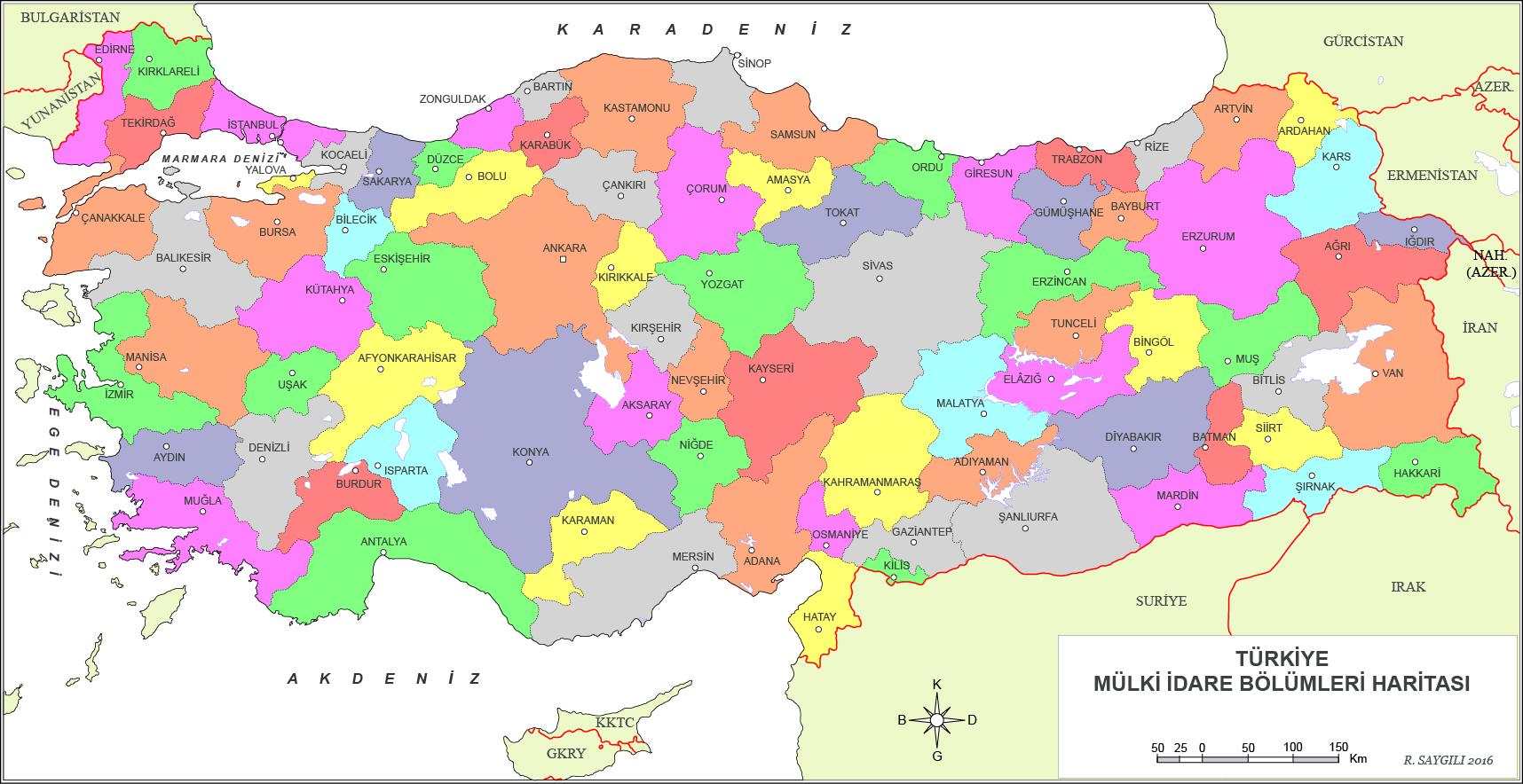 Türkiye Haritası ilçeler
