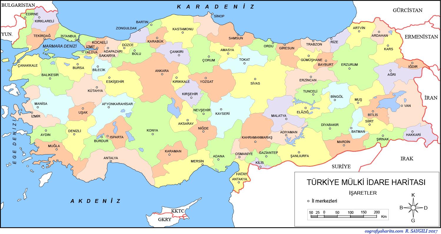 T 252 Rkiye M 252 Lki İdare Haritaları