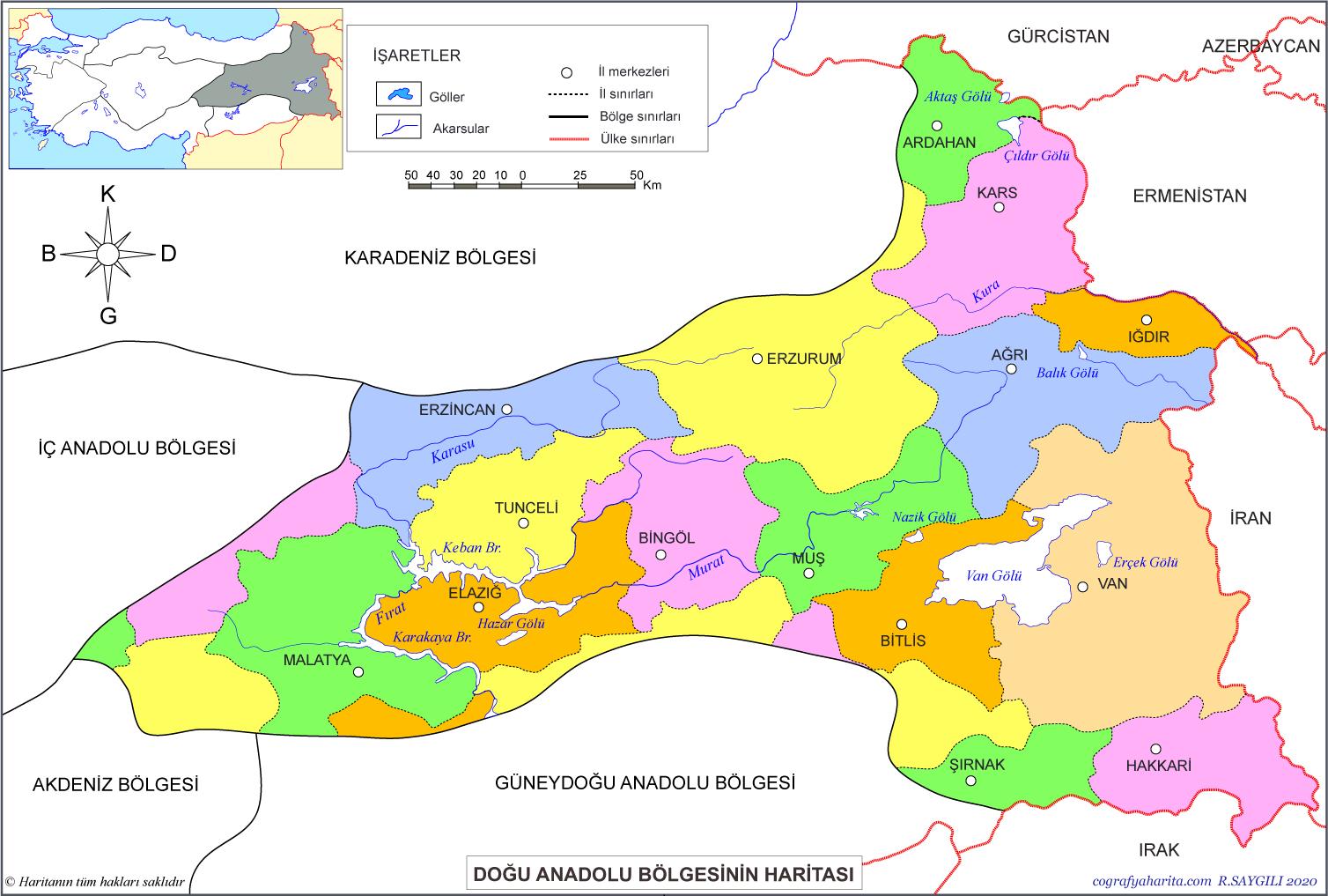 doğu iller haritası ile ilgili görsel sonucu