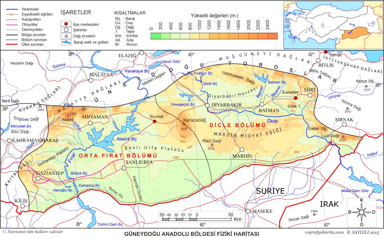 Turkiye Bolge Haritalari