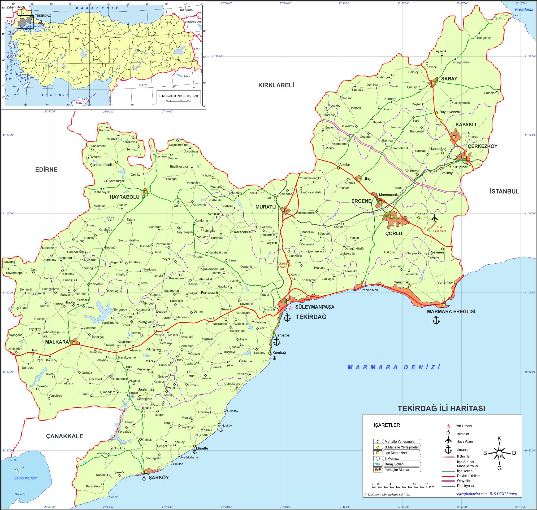 Image result for tekirdağ haritası